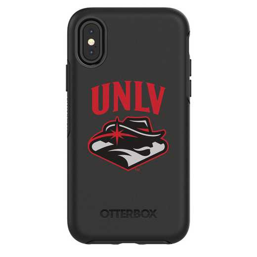 IPH-X-BK-SYM-UNLV-D101: FB UNLV iPhone X Symmetry Series Case